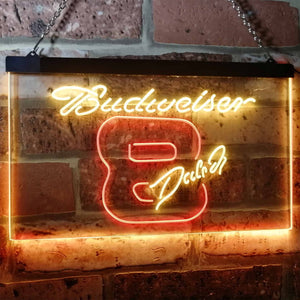 Budweiser 8 Dale Jr. Neon-Like LED Sign - Dual Color - Red and Yellow - SafeSpecial