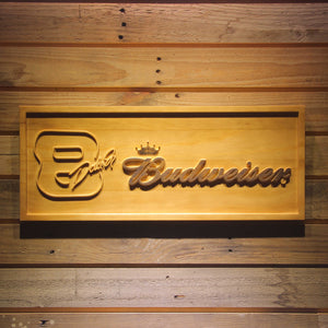 Budweiser 8 Dale Jr. Wooden Sign - Small - SafeSpecial