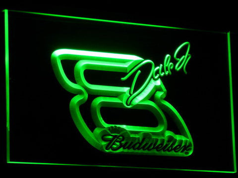 Budweiser Big 8 LED Neon Sign - Green - SafeSpecial