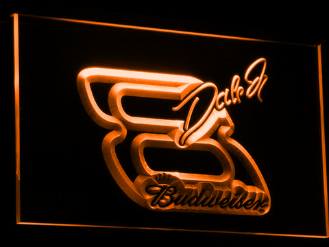 Budweiser Big 8 LED Neon Sign - Orange - SafeSpecial