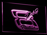 Budweiser Big 8 LED Neon Sign - Purple - SafeSpecial