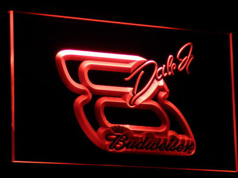 Budweiser Big 8 LED Neon Sign - Red - SafeSpecial