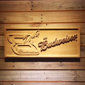 Budweiser Big 8 Wooden Sign - Small - SafeSpecial