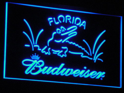Budweiser Crocodile LED Neon Sign - Blue - SafeSpecial