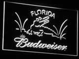 Budweiser Crocodile LED Neon Sign - White - SafeSpecial