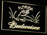 Budweiser Crocodile LED Neon Sign - Yellow - SafeSpecial