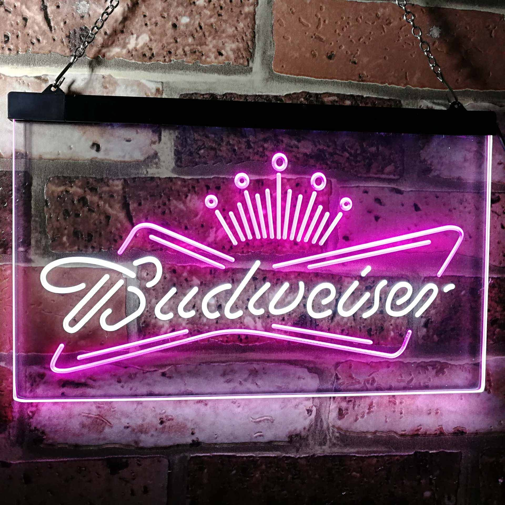 Budweiser Crown 1 Neon-Like LED Sign - Dual Color