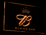 Budweiser Crowned B LED Neon Sign - Orange - SafeSpecial
