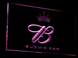 Budweiser Crowned B LED Neon Sign - Purple - SafeSpecial