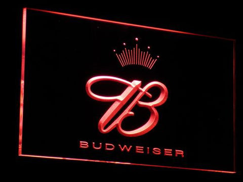 Budweiser Crowned B LED Neon Sign - Red - SafeSpecial