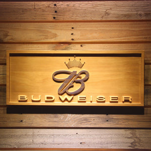 Budweiser Crowned B Wooden Sign - Small - SafeSpecial