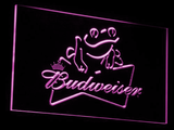 Budweiser Frog LED Neon Sign - Purple - SafeSpecial