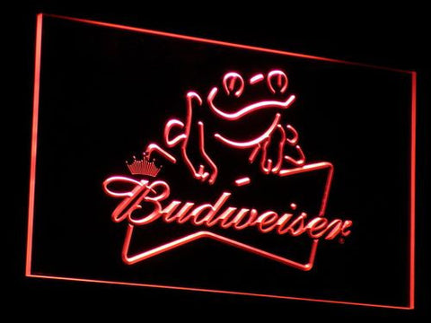 Budweiser Frog LED Neon Sign - Red - SafeSpecial
