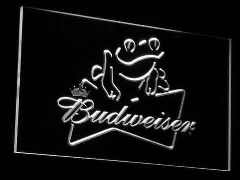Budweiser Frog LED Neon Sign - White - SafeSpecial