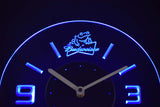 Budweiser Frog Modern LED Neon Wall Clock - Blue - SafeSpecial