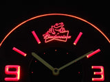 Budweiser Frog Modern LED Neon Wall Clock - Red - SafeSpecial