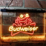Budweiser Frog Neon-Like LED Sign - Dual Color - Red and Yellow - SafeSpecial