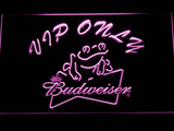 Budweiser Frog VIP Only LED Neon Sign - Purple - SafeSpecial