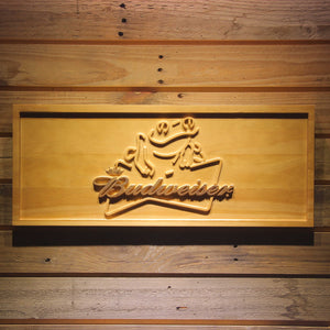 Budweiser Frog Wooden Sign - Small - SafeSpecial