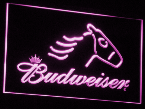 Image of Budweiser Horse LED Neon Sign - Purple - SafeSpecial