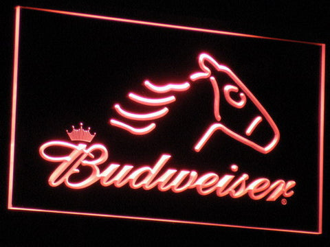 Image of Budweiser Horse LED Neon Sign - Red - SafeSpecial