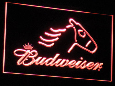 Budweiser Horse LED Neon Sign - Red - SafeSpecial