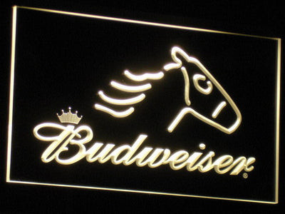 Budweiser Horse LED Neon Sign - Yellow - SafeSpecial