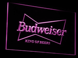Budweiser King of Beers LED Neon Sign - Purple - SafeSpecial