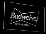 Budweiser King of Beers LED Neon Sign - White - SafeSpecial