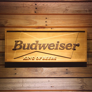 Budweiser King of Beers Wooden Sign - Small - SafeSpecial