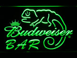 Budweiser Lizard Bar LED Neon Sign - Green - SafeSpecial