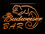 Budweiser Lizard Bar LED Neon Sign - Orange - SafeSpecial