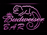 Budweiser Lizard Bar LED Neon Sign - Purple - SafeSpecial