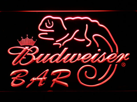 Budweiser Lizard Bar LED Neon Sign - Red - SafeSpecial