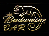 Budweiser Lizard Bar LED Neon Sign - Yellow - SafeSpecial