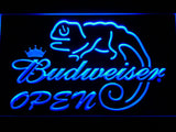 Budweiser Lizard Open LED Neon Sign - Blue - SafeSpecial