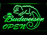 Budweiser Lizard Open LED Neon Sign - Green - SafeSpecial