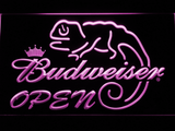 Budweiser Lizard Open LED Neon Sign - Purple - SafeSpecial