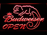 Budweiser Lizard Open LED Neon Sign - Red - SafeSpecial