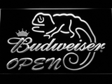 Budweiser Lizard Open LED Neon Sign - White - SafeSpecial