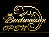 Budweiser Lizard Open LED Neon Sign - Yellow - SafeSpecial