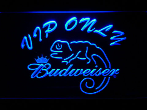 Budweiser Lizard VIP Only LED Neon Sign - Blue - SafeSpecial