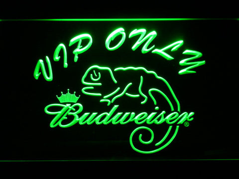 Budweiser Lizard VIP Only LED Neon Sign - Green - SafeSpecial