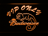 Budweiser Lizard VIP Only LED Neon Sign - Orange - SafeSpecial