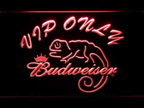 Budweiser Lizard VIP Only LED Neon Sign - Red - SafeSpecial