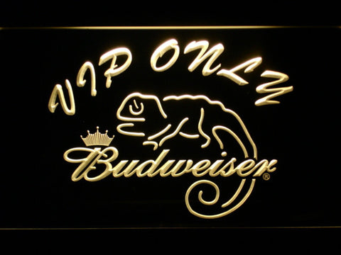 Budweiser Lizard VIP Only LED Neon Sign - Yellow - SafeSpecial