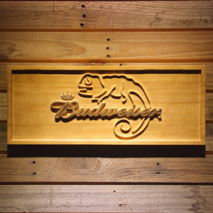Budweiser Lizard Wooden Sign - Small - SafeSpecial