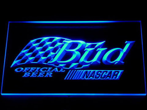 Budweiser NASCAR LED Neon Sign - Blue - SafeSpecial
