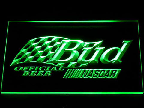 Image of Budweiser NASCAR LED Neon Sign - Green - SafeSpecial
