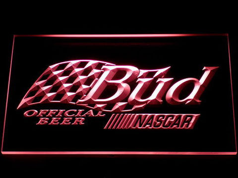 Image of Budweiser NASCAR LED Neon Sign - Red - SafeSpecial